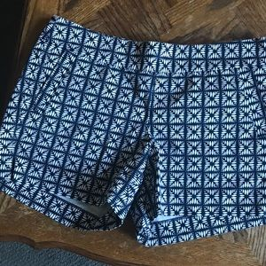 Jcrew 4in Shorts with side zip closure